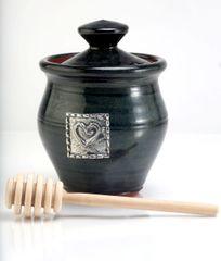 Blackberry Honey Jar Heart Motif