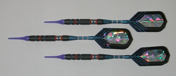 DYNAMITE 16 gram Soft Tip Darts - Scalloped Grip 80% Tungsten - Convertible - Steel/Soft Tip Darts DY9