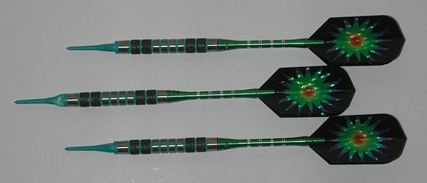 DYNAMITE 18 gram Soft Tip Darts - Contoured Grip 80% Tungsten - Convertible - Steel/Soft Tip Darts DY3