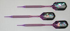 P4 Purpleline 18 gram Tungsten Soft Tip Darts - Knurled Grip - HO6-PUR-18