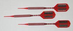 P4 Redline 20 gram Tungsten Soft Tip Darts - Knurled Grip - HO6-RED-20