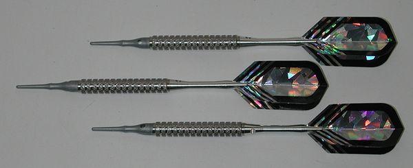 P4 Silverline 18 gram Tungsten Soft Tip Darts - Knurled Grip - HO6-SIL-18