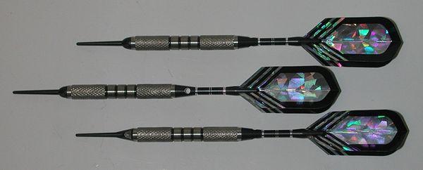 PREDATOR 20 gram Soft Tip Darts - Contoured Grip 80% Tungsten - Convertible - Steel/Soft Tip Darts BH3-20