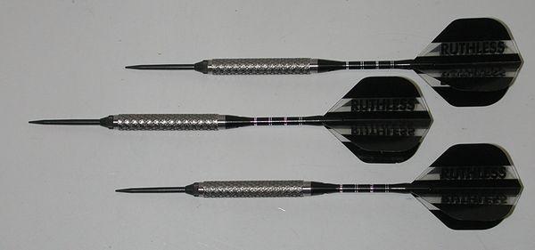 Predator 18 gram Steel Tip Darts - 90% Tungsten, Aggressive Grip - Style 3