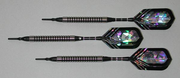PREDATOR 20 gram Soft Tip Darts - Ringed Grip 80% Tungsten - Convertible - Steel/Soft Tip Darts BH6-20