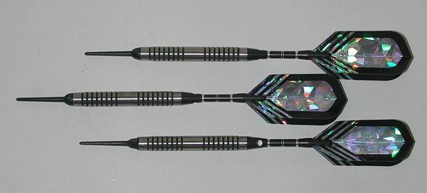 PREDATOR 20 gram Soft Tip Darts - Smooth Grip 80% Tungsten - Convertible - Steel/Soft Tip Darts RD2-20