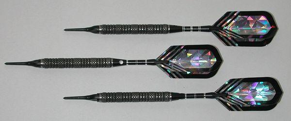 PREDATOR 20 gram Soft Tip Darts - Knurled 80% Tungsten - Convertible - Steel/Soft Tip Darts RD3-20