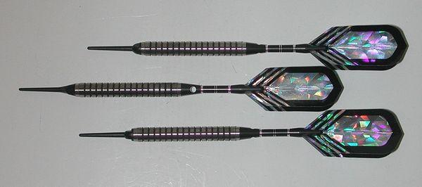 PREDATOR 20 gram Soft Tip Darts - Ringed Grip 80% Tungsten - Convertible - Steel/Soft Tip Darts RD5-20G
