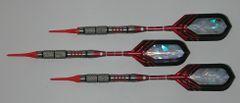VIPER 18 gram Soft Tip Darts - Contoured Grip 90% Tungsten - Convertible - Steel/Soft Tip Darts NV2-18
