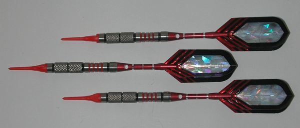 VIPER 18 gram Soft Tip Darts - Contoured Grip 90% Tungsten - Convertible - Steel/Soft Tip Darts NV2-18