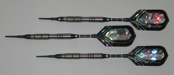VIPER 18 gram Soft Tip Darts - Contoured Grip 90% Tungsten - Convertible - Steel/Soft Tip Darts NV3-18