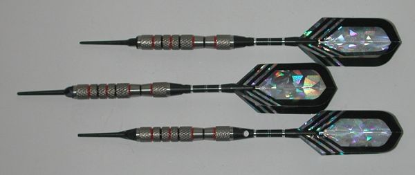 VIPER 16 gram Soft Tip Darts - Contoured Grip 90% Tungsten - Convertible - Steel/Soft Tip Darts NV11-16