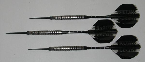 Predator 18 gram Steel Tip Darts - 90% Tungsten, Aggressive Grip - Style 5