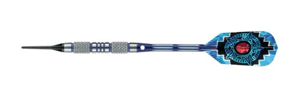 Harrows 18 gram 80% AZTEC Tungsten Soft Tip Darts - Knurled Grip - AZTEC-18-K2