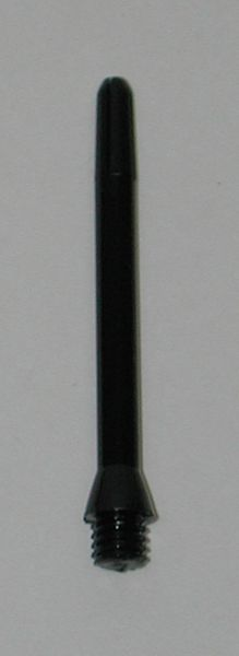 3 Sets (9 shafts) Nylon 1/4 inch, BLACK MEDIUM Dart Shafts