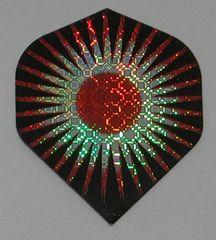 3 Sets (9 flights) RED TRIBAL STAR Standard Holographic Flights - 6035