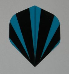 3 Set (9 flights) BLUE STRIPES Standard Hard Dart Flights P537