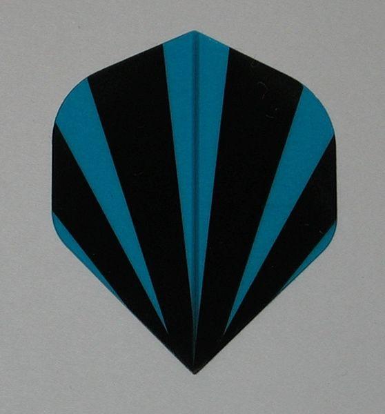 3 Set (9 flights) BLUE STRIPES Standard Hard Dart Flights P537