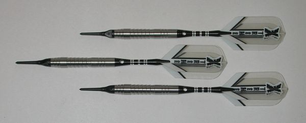 SHARK GRIP 18 gram Soft Tip Darts - 90% Tungsten, Aggressive Grip - SG6