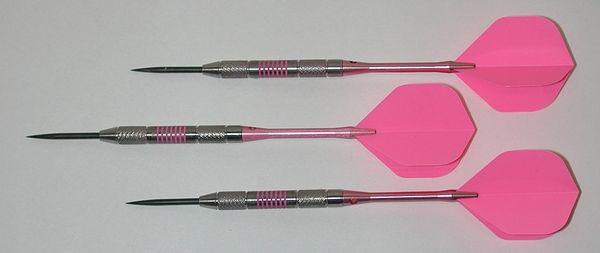Pink Passion 24 gram Steel Tip Darts - 80% Tungsten, Knurled Grip