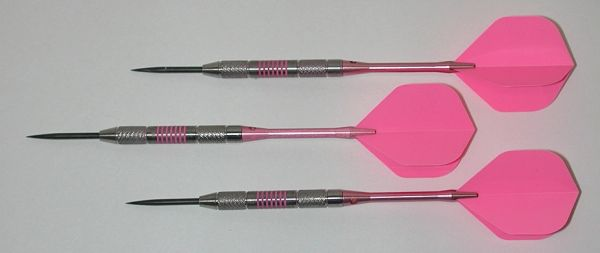 Pink Passion 28 gram Steel Tip Darts - 80% Tungsten, Knurled Grip