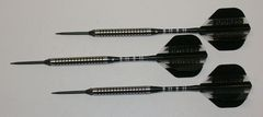 P4 BlackLine 21 gram Steel Tip Darts - 80% Tungsten, Ringed Grip - Style 5