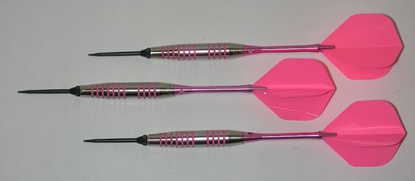COPY OF Pink Passion 21 gram Steel Tip Darts - 80% Tungsten, Ringed Grip - Style 2