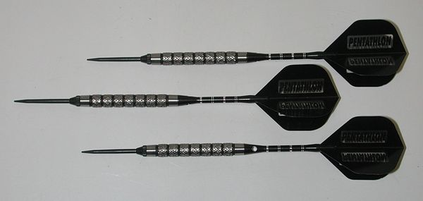 Xtreme 23 gram Steel Tip Darts - 90% Tungsten, Very Aggressive Grip