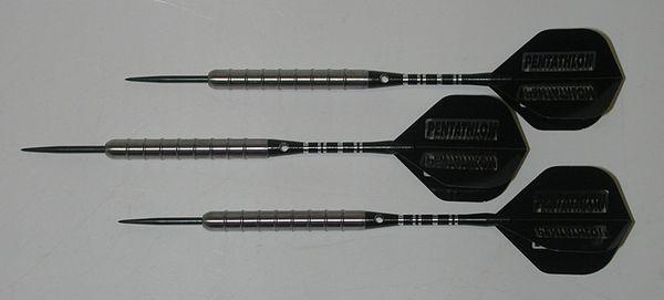 Predator 24 gram Steel Tip Darts - 85% Tungsten, Aggressive Ridged Grip - Style R1