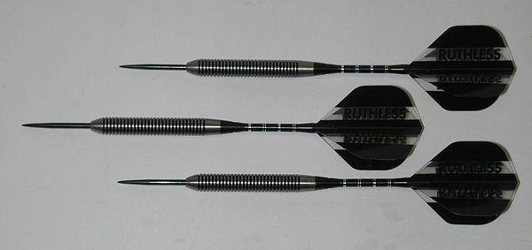 Predator 22 gram Steel Tip Darts - 80% Tungsten, Tight Ringed Grip - Style TR