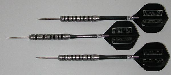 POWERGLIDE 23 gram Steel Tip Darts - 80% Tungsten, Knurled Grip -Style 2