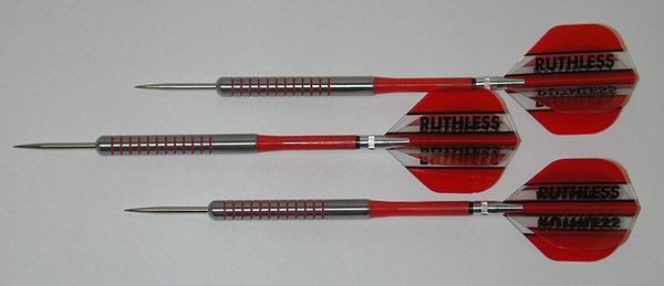POWERGLIDE 22 gram Steel Tip Darts - 80% Tungsten, Ringed Grip -Style 3