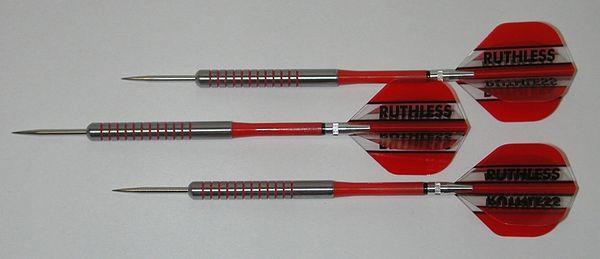 POWERGLIDE 24 gram Steel Tip Darts - 80% Tungsten, Ringed Grip -Style 3