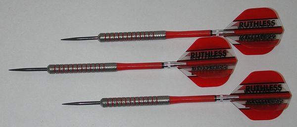POWERGLIDE 26 gram Steel Tip Darts - 80% Tungsten, Knurled Grip -Style 4