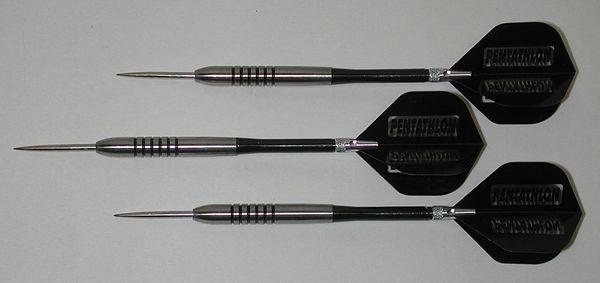 POWERGLIDE 27 gram Steel Tip Darts - 80% Tungsten, Ringed Grip -Style 5