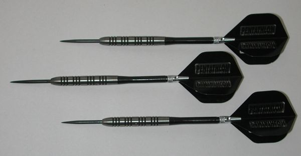 POWERGLIDE 23 gram Steel Tip Darts - 80% Tungsten, Ringed Grip -Style 7