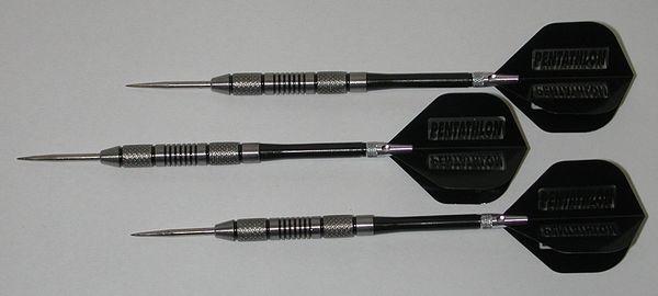 POWERGLIDE 26 gram Steel Tip Darts - 80% Tungsten, Contoured Grip -Style 9