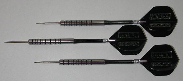 POWERGLIDE 16 gram Steel Tip Darts - 80% Tungsten, Ringed Grip -Style 11