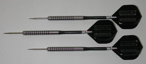 POWERGLIDE 18 gram Steel Tip Darts - 80% Tungsten, Ringed Grip -Style 11
