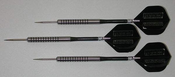 POWERGLIDE 28 gram Steel Tip Darts - 80% Tungsten, Ringed Grip -Style 11