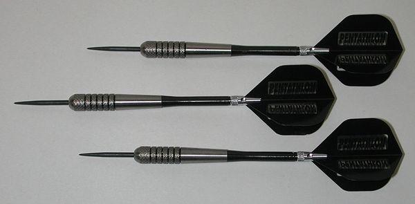 POWERGLIDE 27 gram Steel Tip Darts - 80% Tungsten, Front Knurled Grip -Style 12