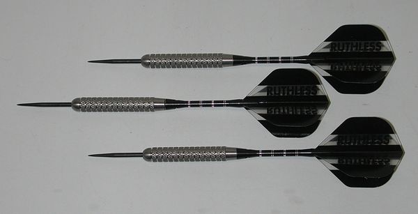 XTREME 22 gram Steel Tip Darts - 80% Tungsten, Aggressive Grip - Silver Series