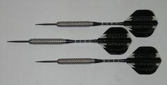 XTREME 24 gram Steel Tip Darts - 80% Tungsten, Aggressive Grip - Silver Series