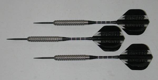 XTREME 24 gram Steel Tip Darts - 80% Tungsten, Aggressive Grip - Silver Series
