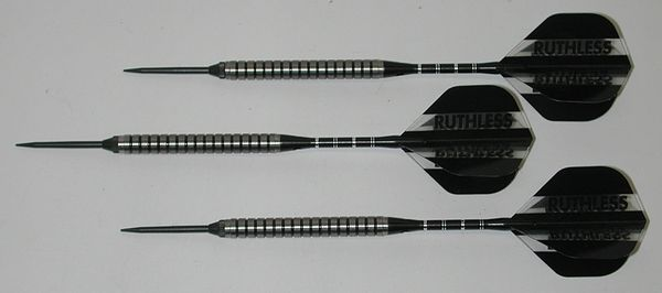 Xtreme 24 gram Steel Tip Darts - 90% Tungsten, Ringed Grip