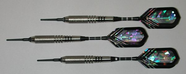 PREDATOR 18 gram Soft Tip Darts - Style Q4 - 2BA (3/16th inch) Tips and Shafts