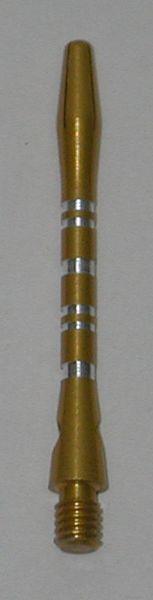3 Sets (9 Shafts) Aluminum Striped Shafts - GOLD - Inbetween - AR1, Colormaster