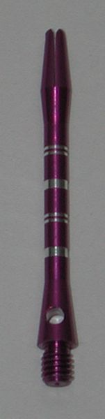 3 Sets (9 Shafts) Aluminum Striped Shafts - PURPLE - Ex-Short - AR1, Colormaster