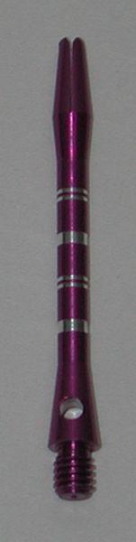 3 Sets (9 Shafts) Aluminum Striped Shafts - PURPLE - Inbetween - AR1, Colormaster