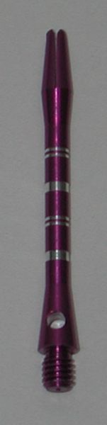 3 Sets (9 Shafts) Aluminum Striped Shafts - PURPLE - Medium - AR1, Colormaster